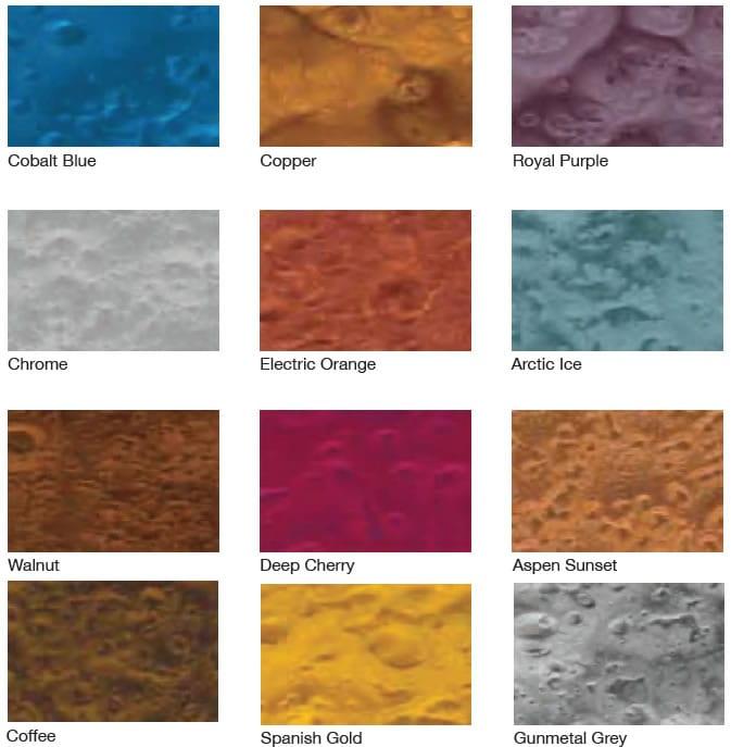 Alpen Glow Metallic Fx Colour Chart