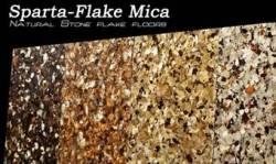 Mica flake floors