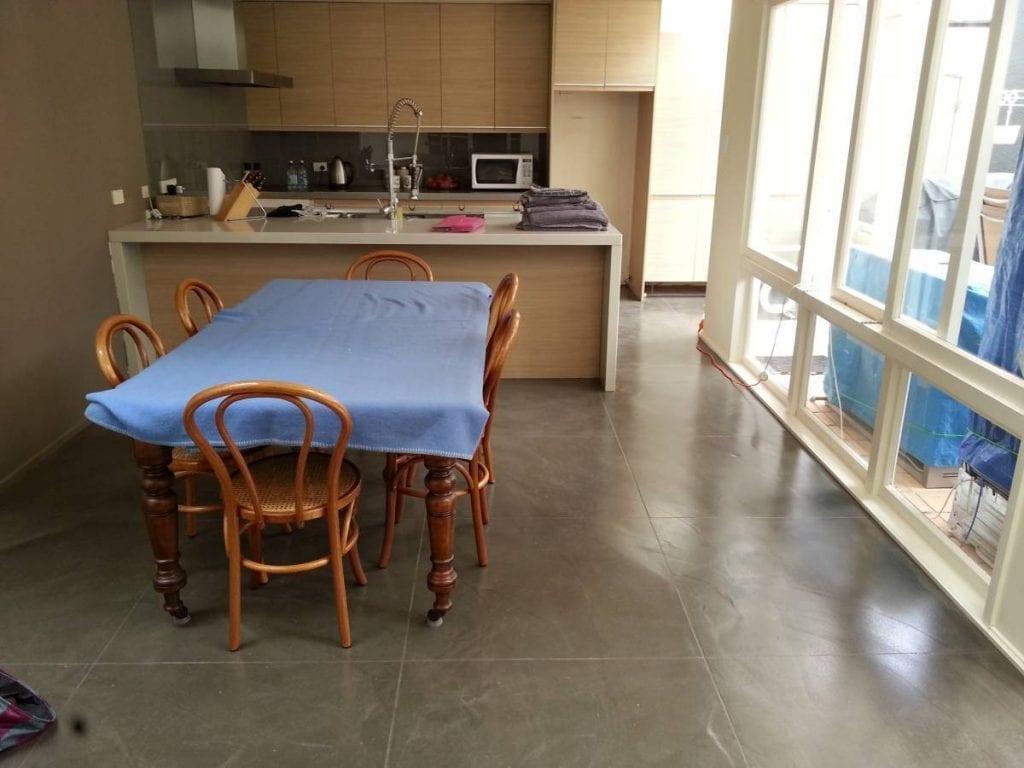 Resurfacing levelcova floor over older tiles decorative concrete resurfacing dailygadgetfo Choice Image