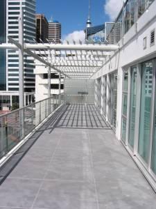 Concrete Resurfacing over tiles - Princess Wharf - Auckland