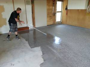 coating/painting old garage floor