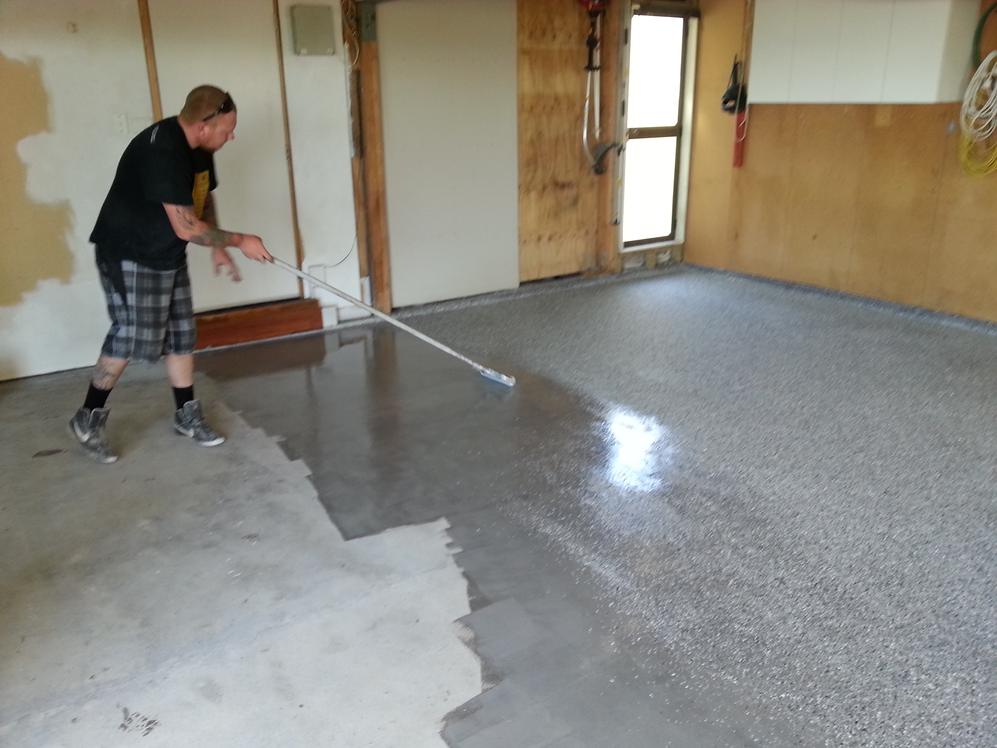 Coating Painting Old Garage Floor