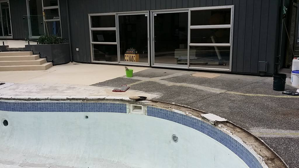 Before during and after concrete resurfacing for Floor masters