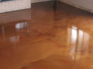 Copper Metallic FX resin floor coating