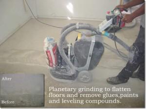 Preparation concrete grinding