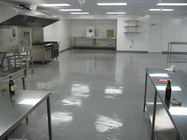 commercial kitchen floor coating levelcova resurfacing 5612