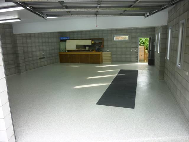 Garageworkshop Floor Decorative Flake Floor New Zealand