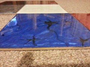 Metalic resin floor coating